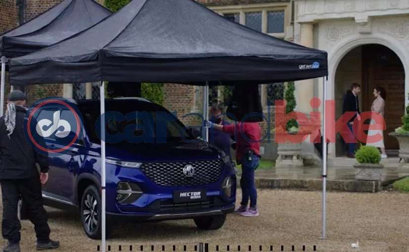 MG Hector plus shot during tvc shoot