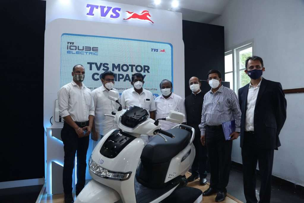 TVS iCube electric scooter